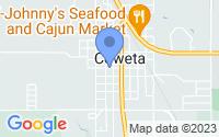 Map of Coweta OK
