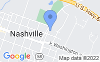 Map of Nashville NC