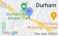 Map of Durham NC