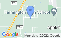 Map of Farmington AR