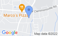 Map of Winston-Salem NC