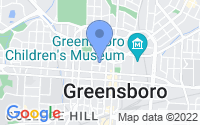 Map of Greensboro NC