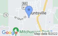 Map of Huntsville AR