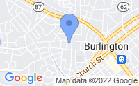 Map of Burlington NC