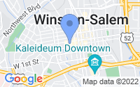 Map of Winston-Salem NC