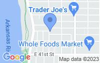 Map of Tulsa OK