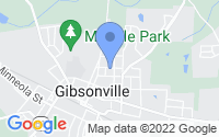 Map of Gibsonville NC