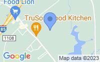 Map of Creedmoor NC