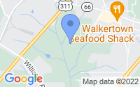 Map of Walkertown NC