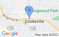 Map of Cookeville TN