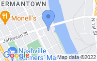 Map of Nashville TN