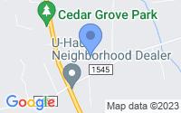 Map of Cedar Grove NC