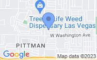 Map of Las Vegas NV