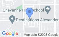 Map of North Las Vegas NV