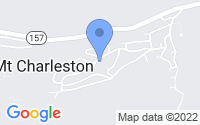 Map of Mount Charleston NV