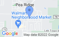 Map of Pea Ridge AR