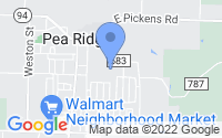 Map of Pea Ridge AR