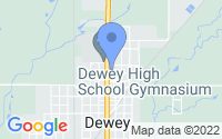 Map of Dewey OK