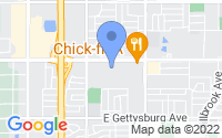 Map of Fresno CA