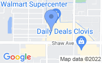 Map of Clovis CA