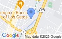 Map of Los Gatos CA