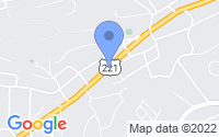 Map of Roanoke VA