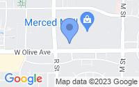 Map of Merced CA