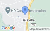 Map of Daleville VA