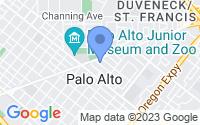 Map of Palo Alto CA