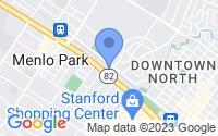 Map of Menlo Park CA