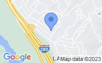 Map of Hillsborough CA