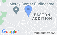 Map of Burlingame CA