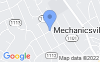 Map of Mechanicsville VA