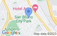 Map of San Bruno CA