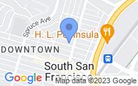 Map of South San Francisco CA