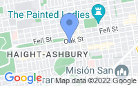 Map of San Francisco CA