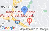 Map of Walnut Creek CA
