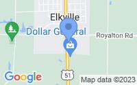 Map of Elkville IL