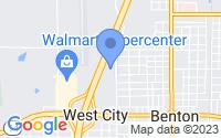 Map of Benton IL