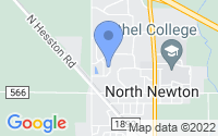 Map of North Newton KS
