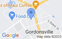 Map of Gordonsville VA