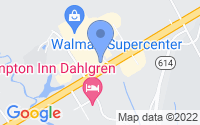Map of King George VA