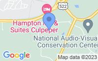 Map of Culpeper VA