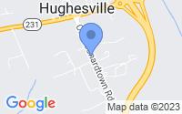 Map of Hughesville MD