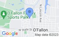 Map of O'Fallon IL