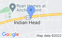 Map of Indian Head MD
