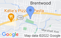 Map of Brentwood MO
