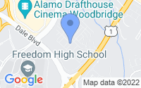 Map of Woodbridge VA