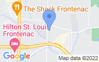 Map of St. Louis MO