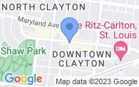 Map of Clayton MO